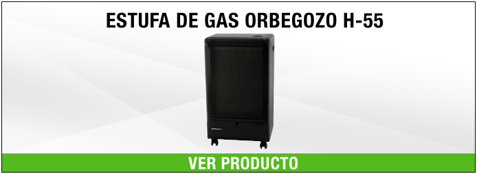 ESTUFA DE GAS ORBEGOZO H55