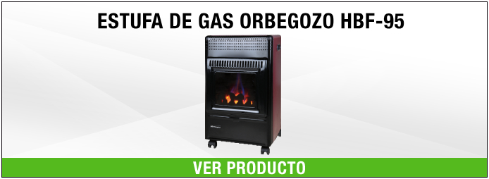 ESTUFA DE GAS ORBEGOZO HBF95