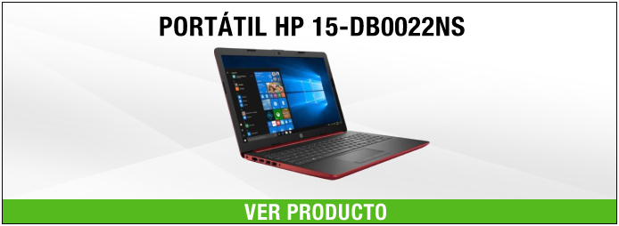 portatil hp rojo