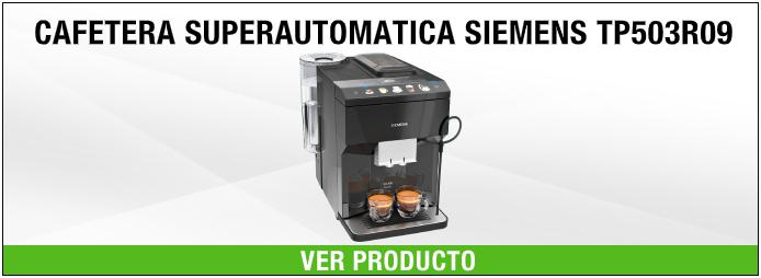 cafetera de cafe molido superautomática siemens