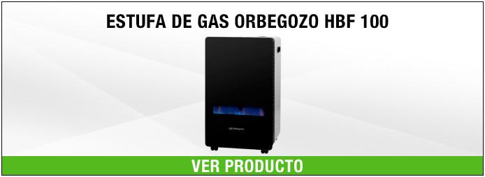 Estufa de gas Orbegozo  HBF 100 Cristal templado