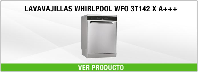 lavavajillas de libre instalación Whirlpool WFO 3T142 X A+++