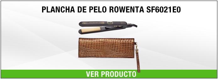 plancha de pelo Rowenta SF6021E0 Negro y dorado