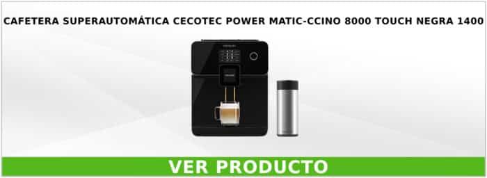 Cafetera superautomática Cecotec POWER Matic-ccino 8000 Touch Negra 1400