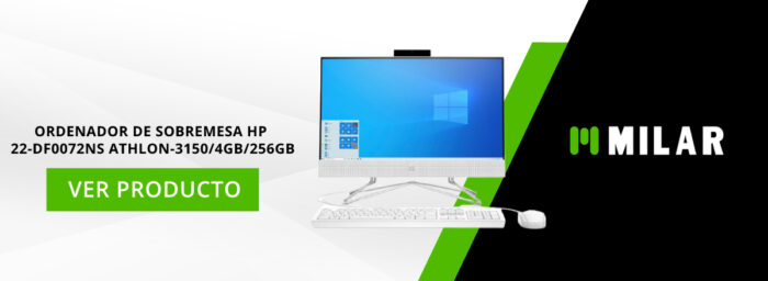 ordenador de sobremesa HP 22-DF0072NS ATHLON-3150/4GB/256GB