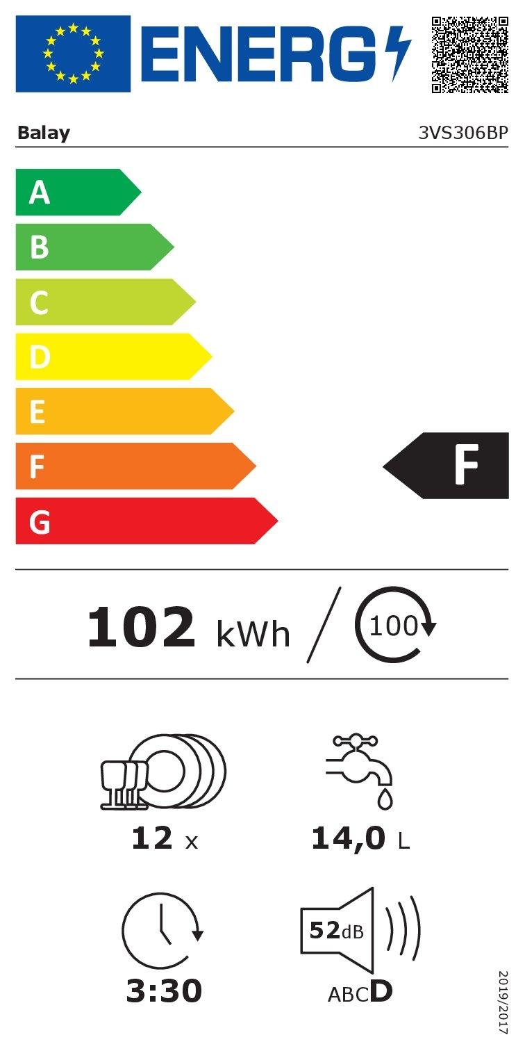 Etiqueta energética BALAY 3VS306BP